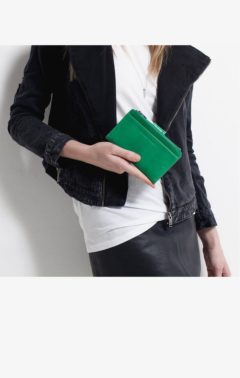 status anxiety outsider wallet emerald