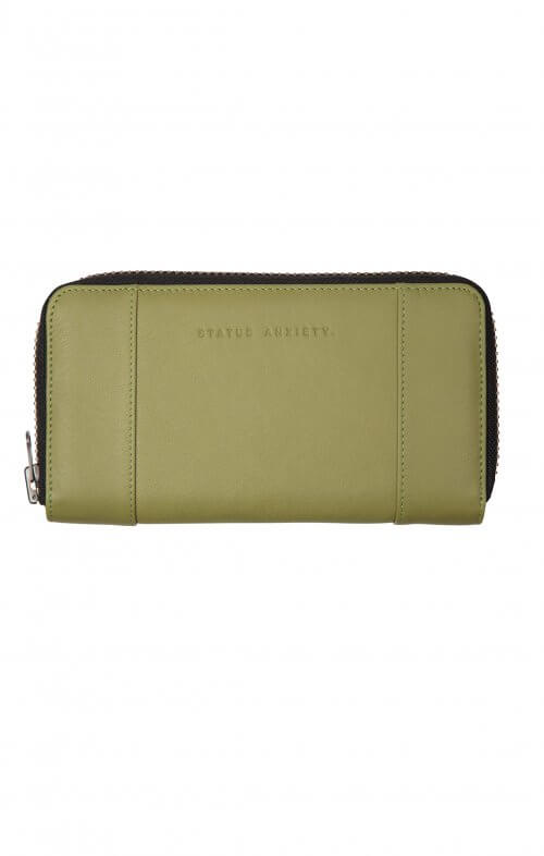 status anxiety state of flux wallet olive