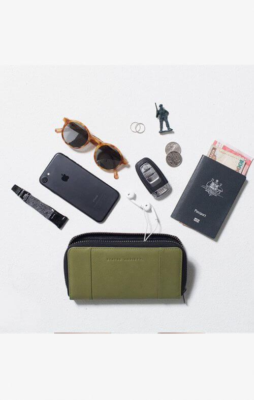 status anxiety state of flux wallet olive7