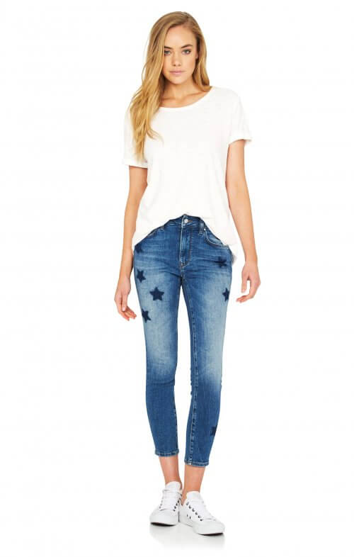 mavi tess high rise jeans star