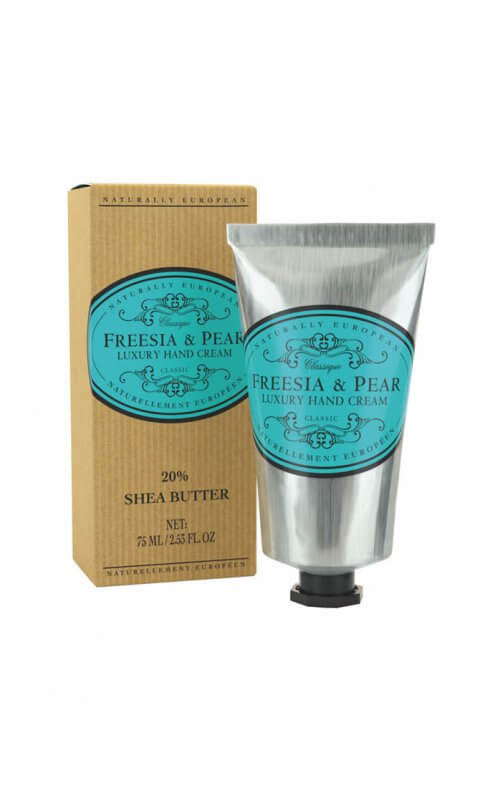 naturally european freesia pear hand cream