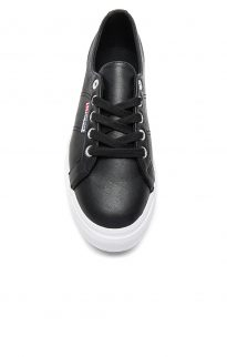 superga flatform linea sneaker black white 2790 d