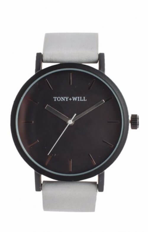 tony + will black black grey watch classic