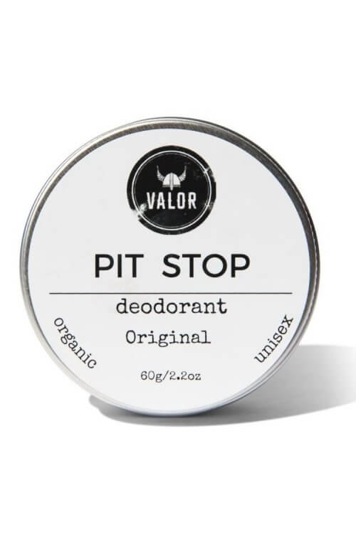 shave with valor pit stop organic deodorant