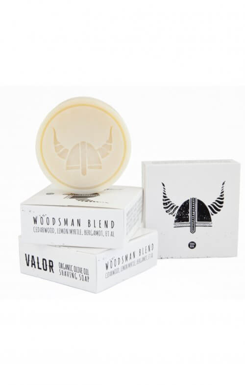 shave with valor organic shaving soap woodsman refill
