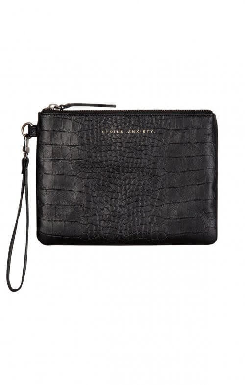 status anxiety fixation wallet black croc