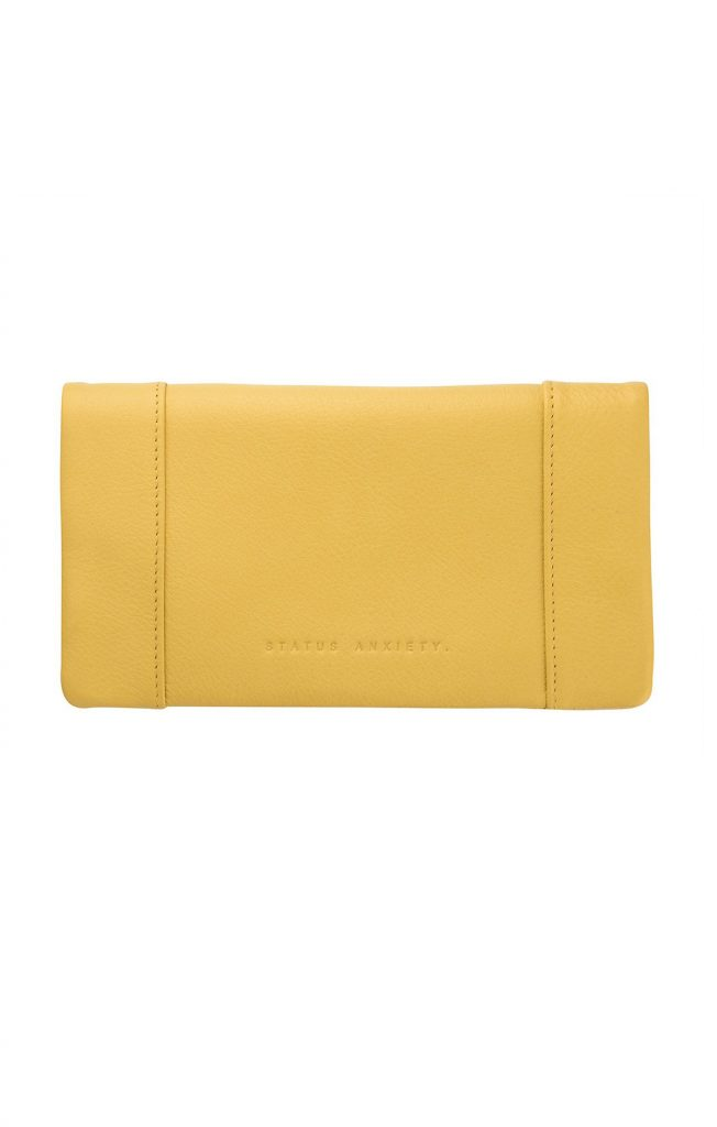 STATUS ANXIETY SOME TYPE OF LOVE WALLET YELLOW