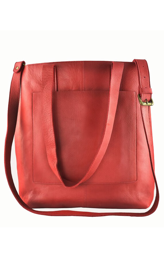 KIKO LEATHER JOURNALIST HANDBAG RED