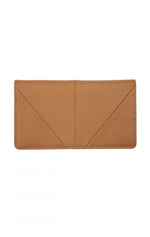 status anxiety wallet triple threat tan