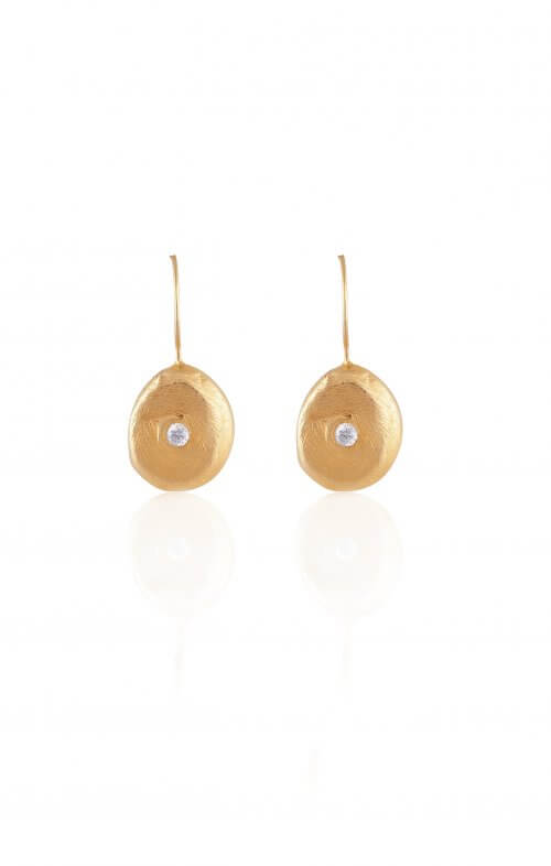 atelier mon earrings 18kt gold zirconia