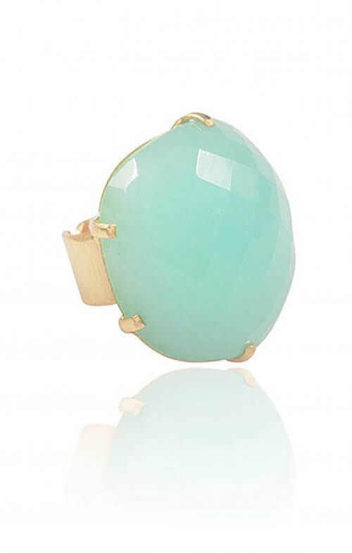 atelier mon statement ring green chalcedony