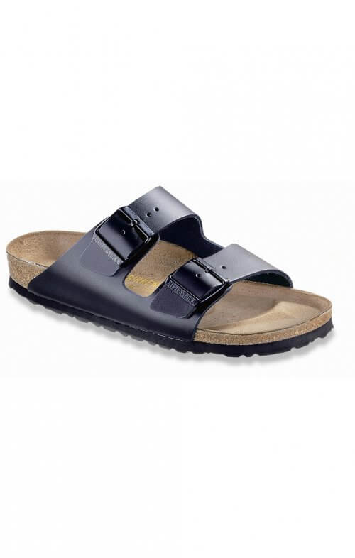 birkenstock arizona black leather