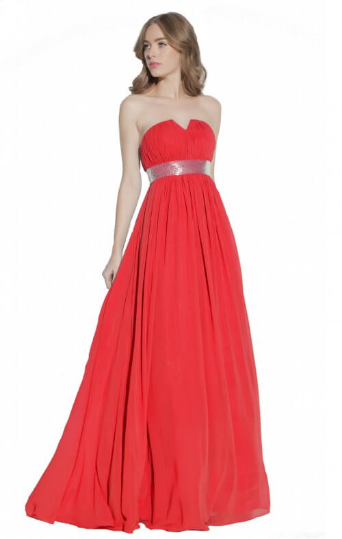 g by george ramon evening gown red
