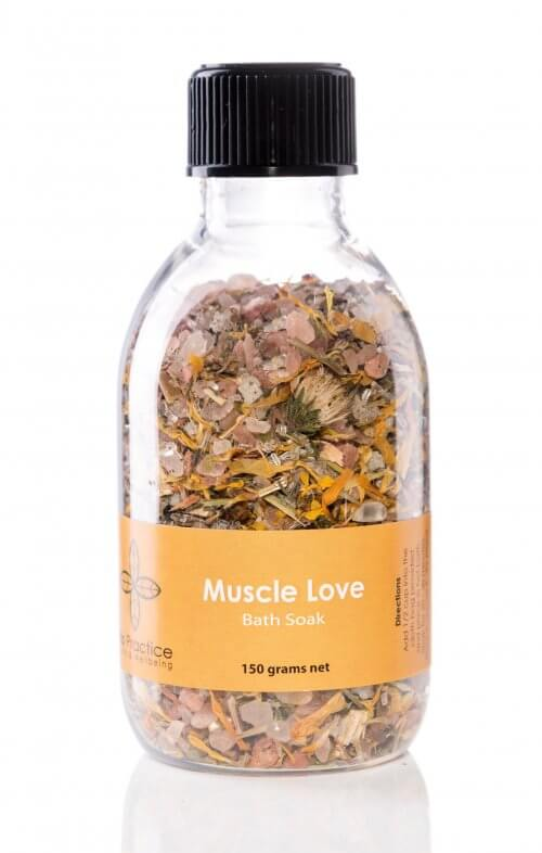 iris practice muscle love bath salts jar