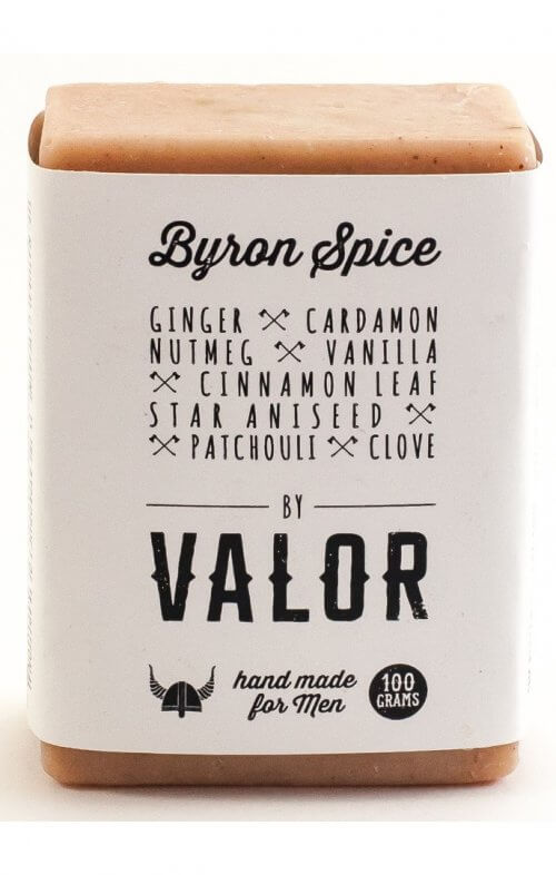shave with valor byron spice body soap