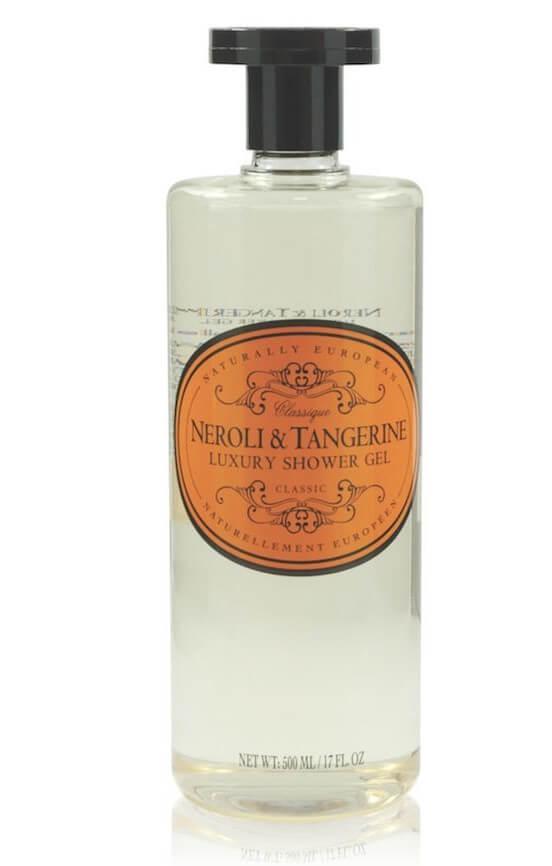 naturally european neroli tangerine shower gel