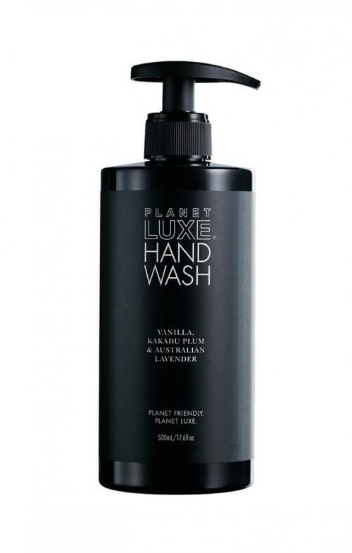planet luxe hand wash vanilla kakadu plum black