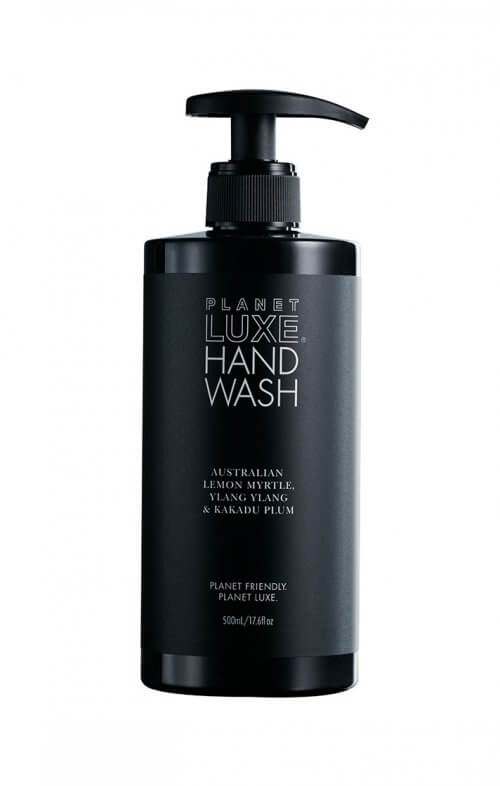 planet luxe hand wash lemon myrtle ylang ylang black