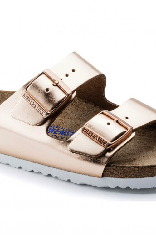 birkenstock arizona copper soft footbed6