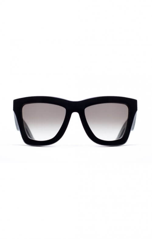 valley db sunglasses black gloss gradient lens