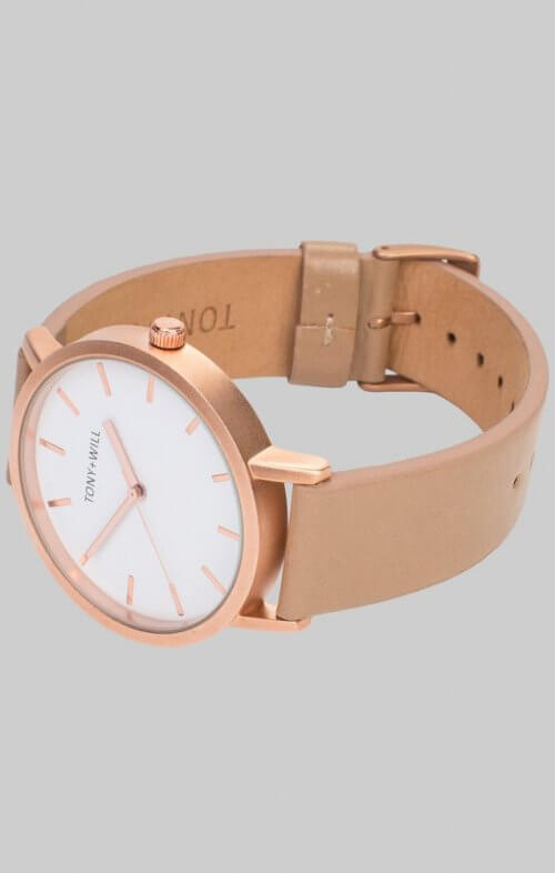 tony will rose gold beige watch2