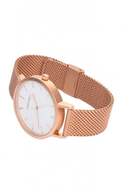 tony will rose gold mesh watch3