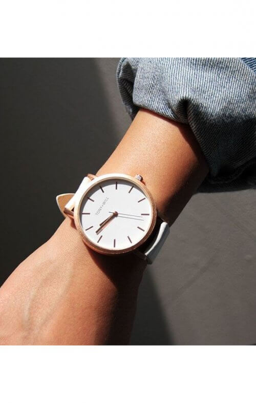tony will rose gold white watch3
