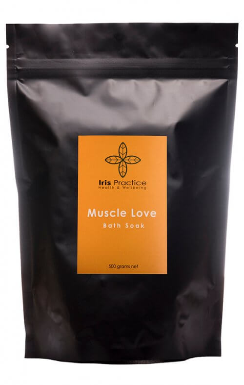 iris practice muscle love bath salts pack