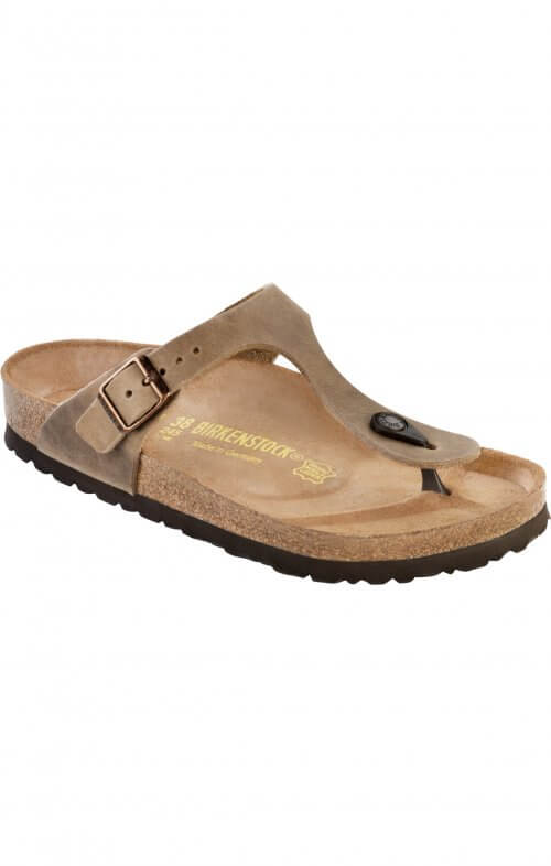 birkenstock gizeh tabacco brown oiled leather