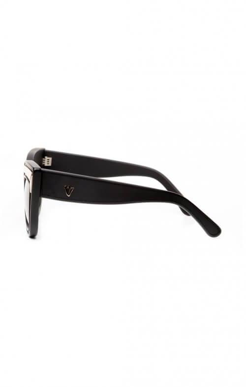 valley sunglasses marmont matte black gold trim2