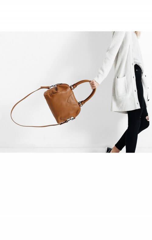 status anxiety force of being handbag tan7