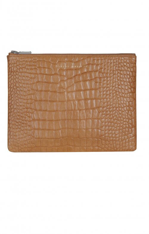status anxiety antiheroine clutch tan croc