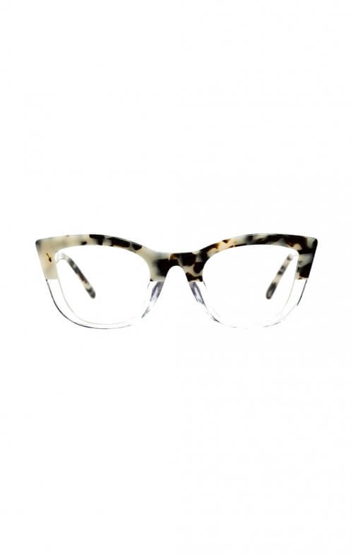valley ludwig snow leopard clear optical glasses