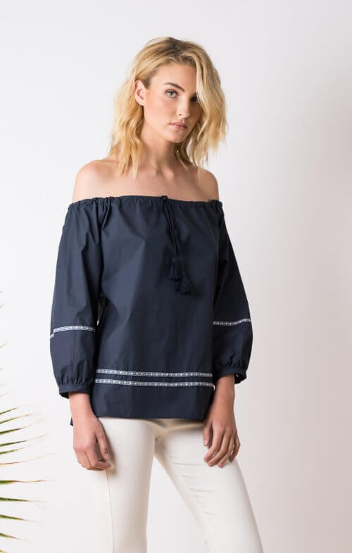 conchita tassel tie top midnight