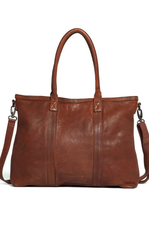 sticks and stones victoria leather handbag brown