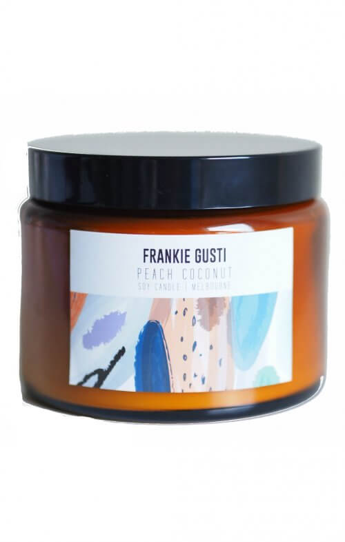frankie gusti honeys big peach coconut candle