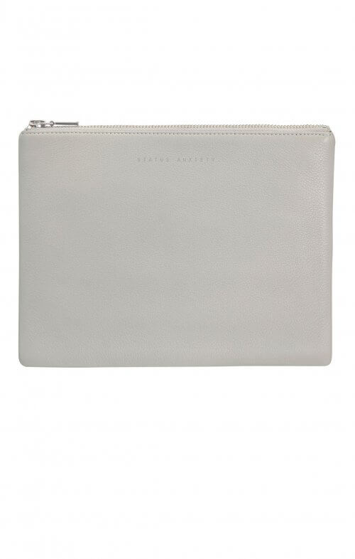 status anxiety antiheroine clutch grey