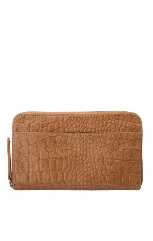 status anxiety delilah wallet tan croc