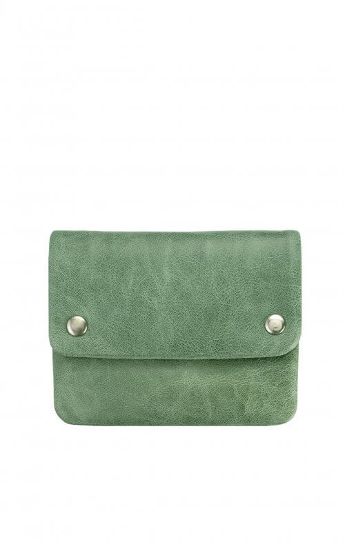 status anxiety norma wallet emerald green