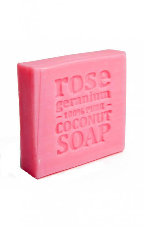 corrynnes soap rose geranium coconut