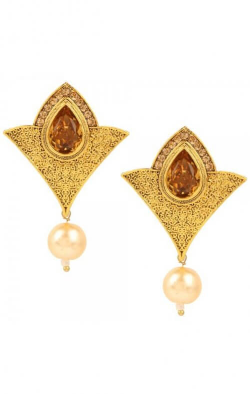 lazurah alisha earrings gold
