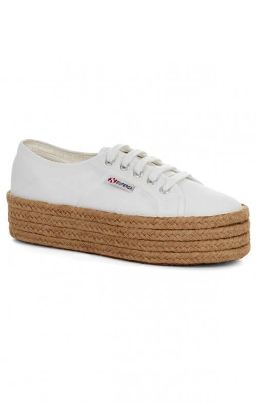 superga cotu rope white flatform 2790