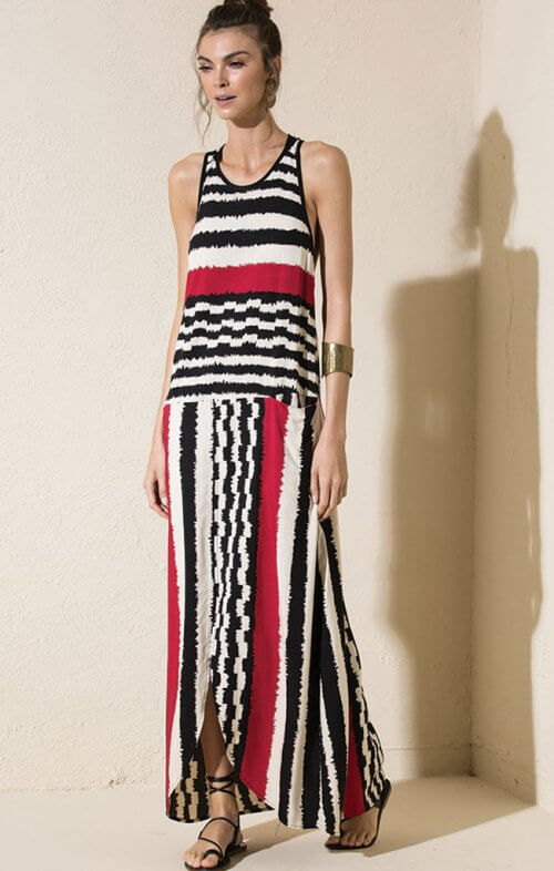 totem sierra maxi dress namibia red
