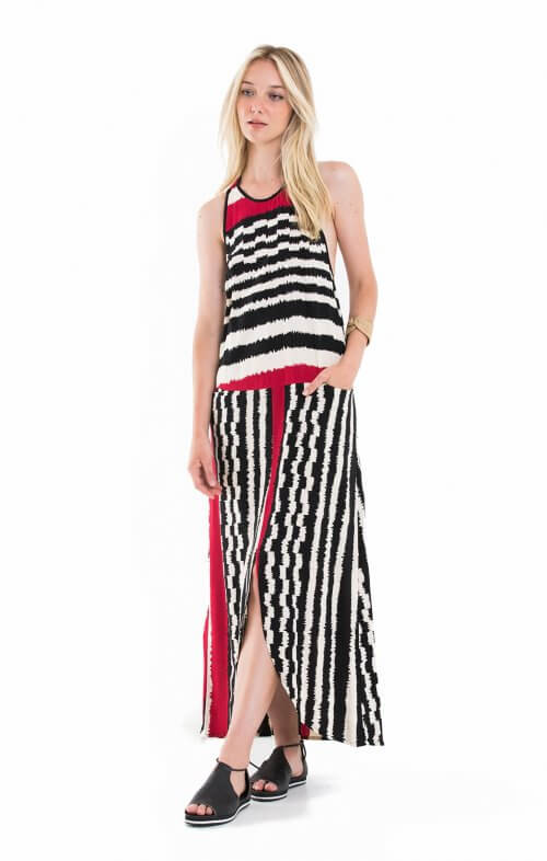 totem sierra maxi dress namibila red1