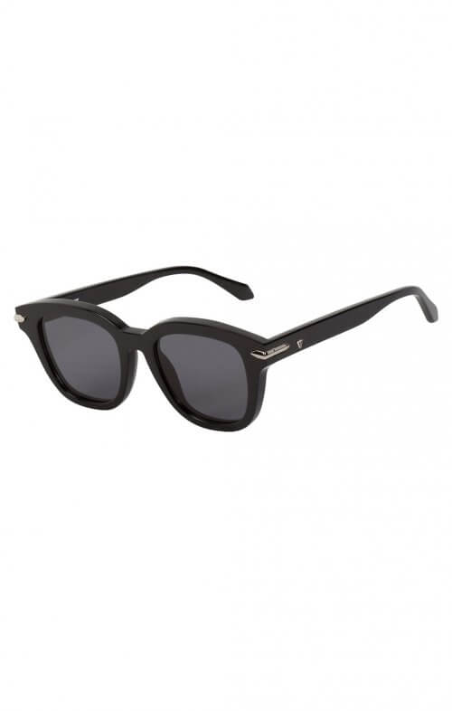 valley brake sunglasses black silver trim