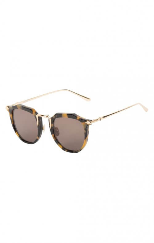 valley chateau sunglasses yellow tortoise gold trim