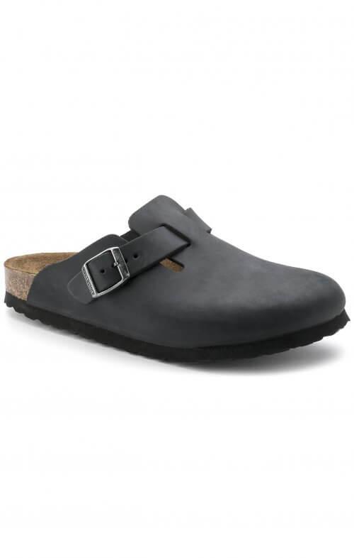 birkenstock boston oiled leather black