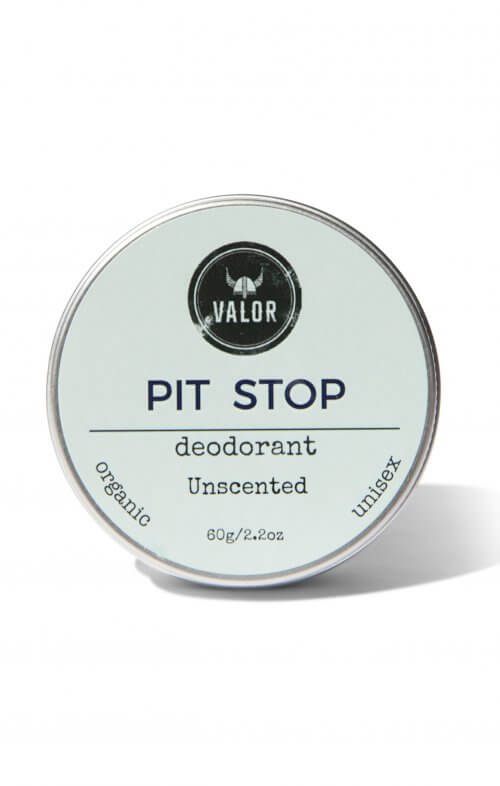 shave with valor pit stop organic unscented deodorant