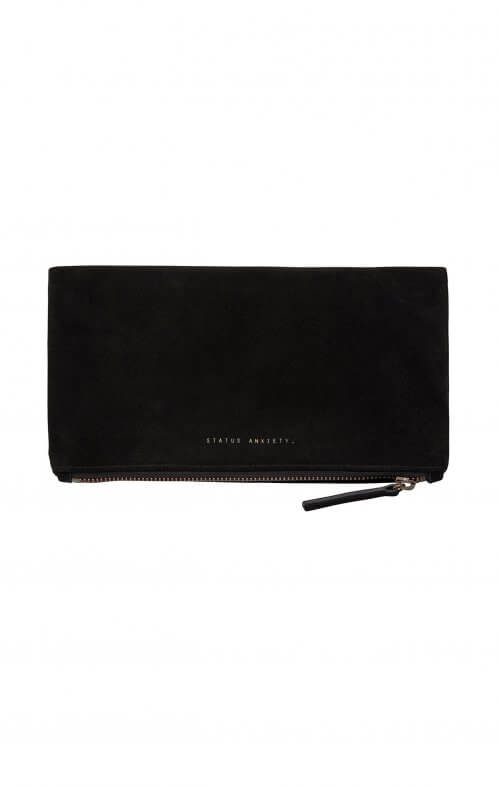 status anxiety clutch feel the night black