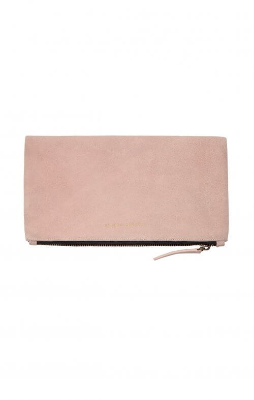 status anxiety clutch feel the night dusty pink